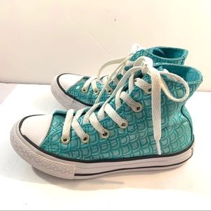 Converse Girls Turquoise Mermaid Sneaker Size 12Y